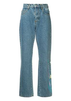 MSGM printed jeans - Blue
