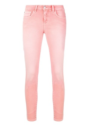 Closed cropped skinny jeans - Pink