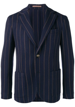 Eleventy striped woven blazer - Blue