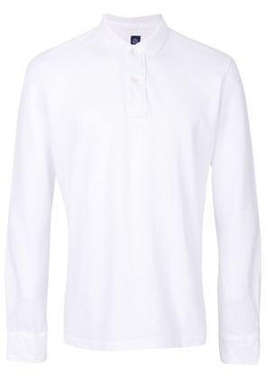 Eleventy longsleeved polo shirt - White
