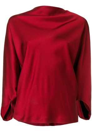 Chalayan draped satin top - Red