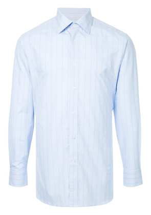 Gieves & Hawkes classic check shirt - Blue