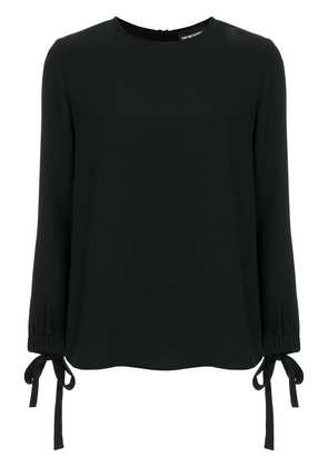 Emporio Armani bow-embellished blouse - Black