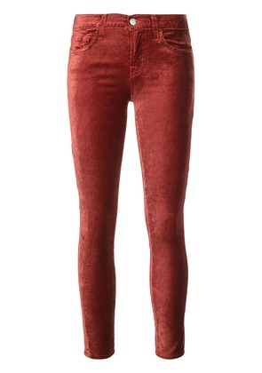 7 For All Mankind velvet mid rise skinny jeans - Red