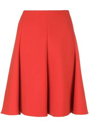 Dorothee Schumacher pleated high-waisted skirt - Red