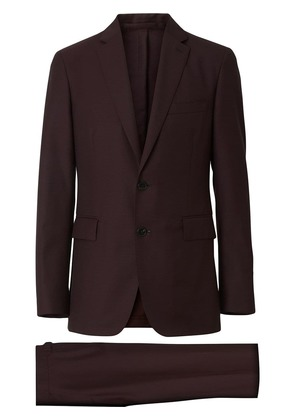 Burberry Slim Fit Wool Mohair Silk Suit - Red