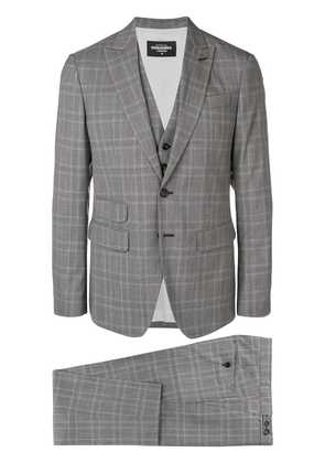 Dsquared2 checked three-piece suit - Grey