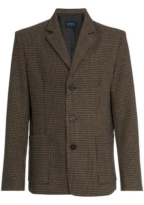 Charm's checked single breasted blazer - Brown