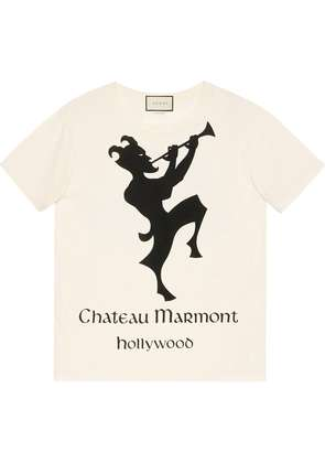 Gucci Oversize t-shirt with Chateau Marmont print - White