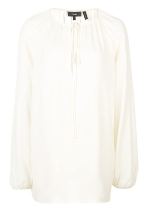 Theory gathered neck blouse - Neutrals