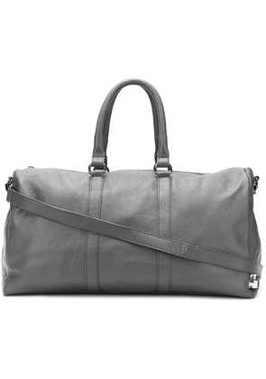 Fefè large leather holdall - Grey