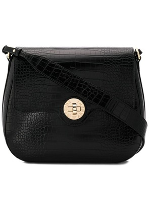 Emporio Armani twist lock shoulder bag - Black
