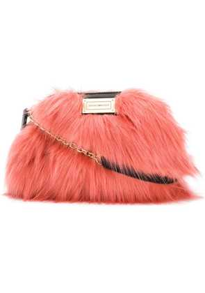 Emporio Armani fur cross body bag - Red