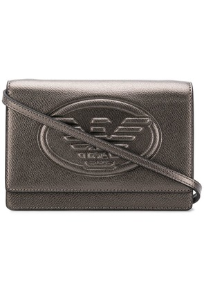Emporio Armani embossed logo cross-body bag - Metallic
