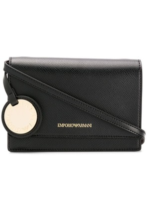 Emporio Armani structured cross body bag - Black