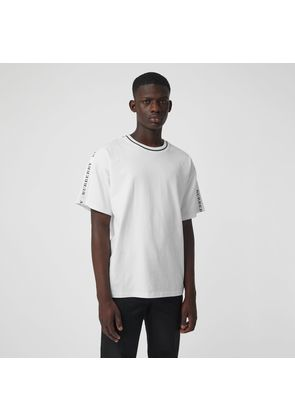 Burberry Tape Detail Cotton T-shirt, White