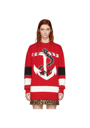 MSGM Red Sailor Sweater