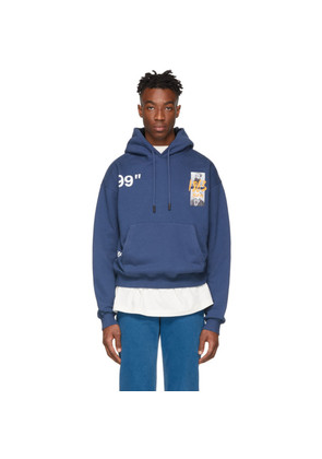 Off-White Blue Oversized Summer Hoodie