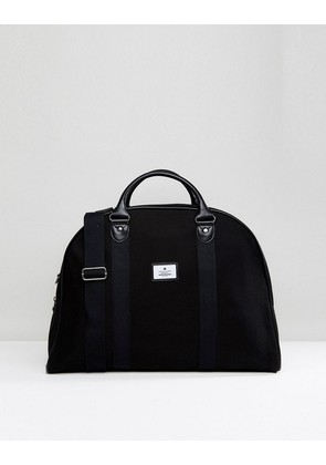 ASOS Structured Holdall In Black Canvas - Black