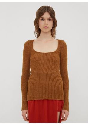 Jacquemus La Maille Dão Sweater in Camel size FR - 38