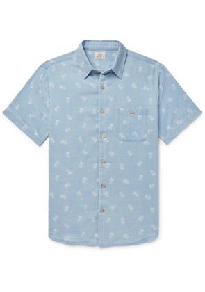Faherty - Pineapple-print Cotton Shirt - Blue