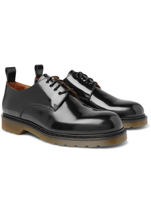 AMI - Polished-leather Derby Shoes - Black