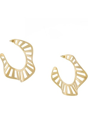 Arme De L'amour twisted hoop earrings - Metallic