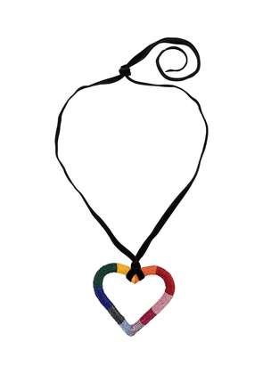 Carolina Herrera beaded heart necklace - Black