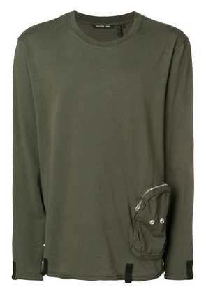 Helmut Lang cargo pocket long sleeved T-shirt - Green