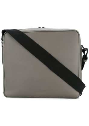 Gieves & Hawkes square zipped messenger bag - Grey