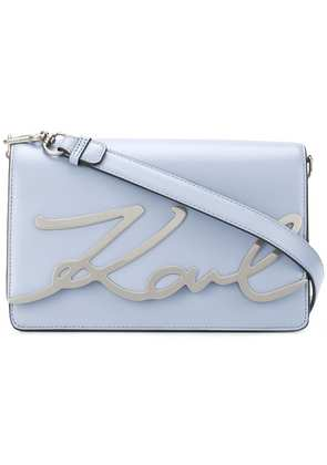 Karl Lagerfeld K/Signature shoulder bag - Blue