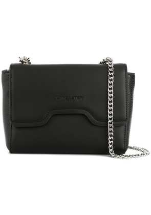 Lancaster foldover chain shoulder bag - Black