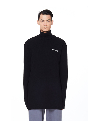 Black Wool Embroidered Sweater
