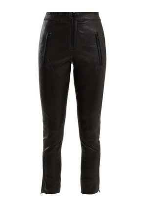 Isabel Marant - Happy Skinny Leather Trousers - Womens - Black