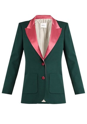 Racil - Yorkshire Single Breasted Wool Blazer - Womens - Green