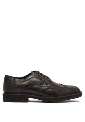 Tod's - Leather Brogue Shoes - Mens - Black