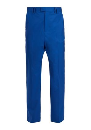 Martine Rose - Straight Leg Wool Trousers - Mens - Blue