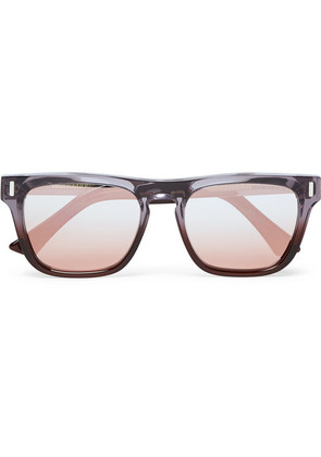 Cutler and Gross - Square-frame Acetate And Silver-tone Sunglasses - Lilac