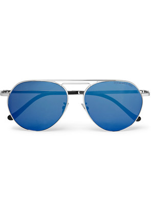 Cutler and Gross - Aviator-style Gold-tone Sunglasses - Silver