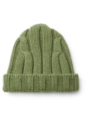 Connolly - Ribbed Merino Wool And Cashmere-blend Beanie - Green