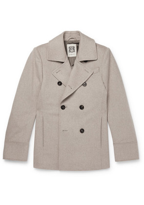 Connolly - Slim-fit Wool Peacoat - Gray