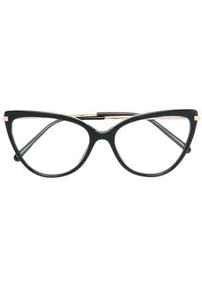 Dolce & Gabbana Eyewear cat-eyed frame glasses - Black
