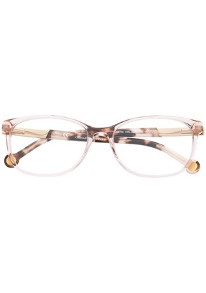 Ch Carolina Herrera rectangular glasses - Brown
