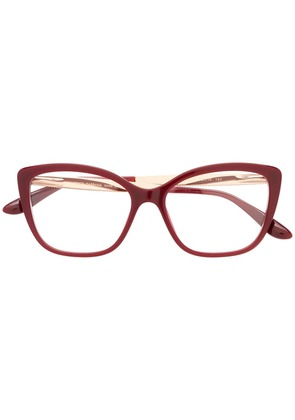Dolce & Gabbana Eyewear cat-eye frame glasses - Red