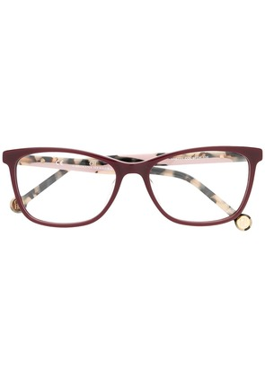Ch Carolina Herrera cat eye glasses - Red