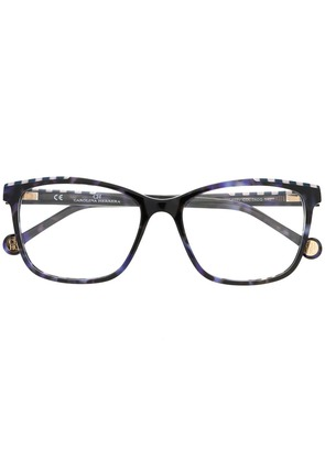 Ch Carolina Herrera stripe trim glasses - Blue