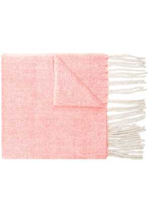 Closed woven tassel scarf - Pink