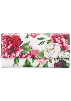 Dolce & Gabbana Peony continental wallet - White