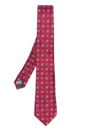 Canali printed tie - Red