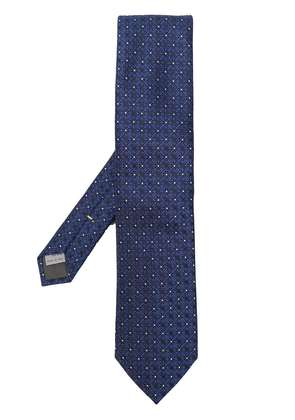 Canali floral patterned tie - Blue